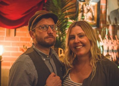(L–R) Mister Pauper and Sara Lund were the executive designers of both The Rest and Saturday night's event. Photo: Talyn Sherer