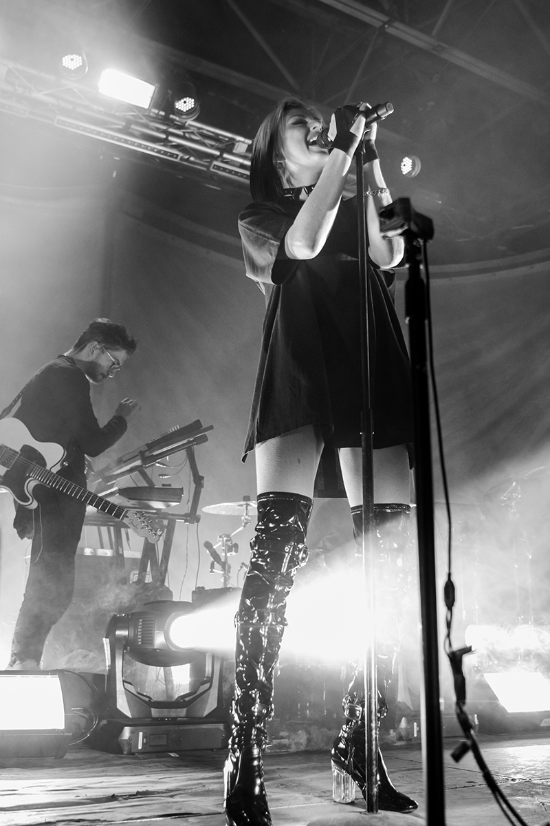 Shining underneath a giant disco ball, Phantogram mesmerize the crowd with their uplifting lyrics. Photo: ColtonMarsalaPhotography.com