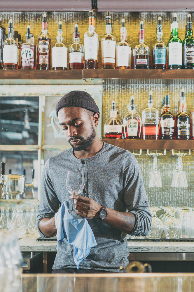 """I like making every drink, and that's why I love bartending. ...I just strive to make every drink that I put out great, that everyone's going to enjoy it,"" says Bardole. ""Even if I'm in the worst mood, I'll put my full effort into each drink."" Photo: @clancycoop"