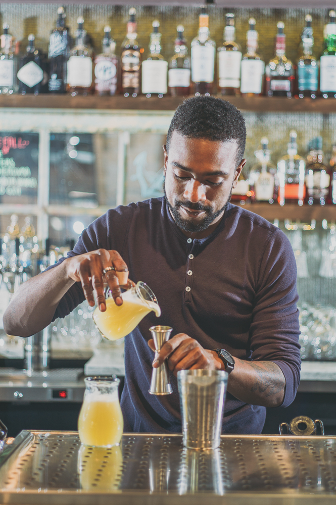 """I love shaking drinks. I like making a really good margarita when it's just nice and has the little green hue to it and nice froth on top,"" says Bardole. ""I love making Negronis—any sort of Negroni variation—because those are my favorite drinks. Just three ingredients: bitters, sweet, and then you've got some sort of spirit—that's brilliant. I like egg white drinks. I like the way they look. I like making them sometimes, but then sometimes I make too many of them. I'll have to make like 60 egg white drinks and they just take a long time."" Photo: @clancycoop"