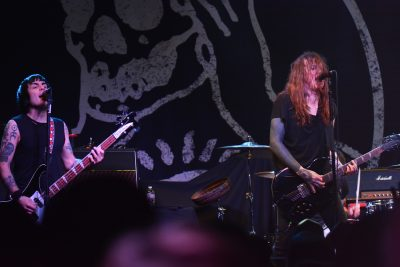 Inge Johansson and Laura Jane Grace of Against Me! Photo: Andy Fitzgerrell