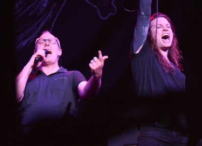 Greg Graffin of Bad Religion and Laura Jane Grace of Against Me! Photo: Andy Fitzgerrell