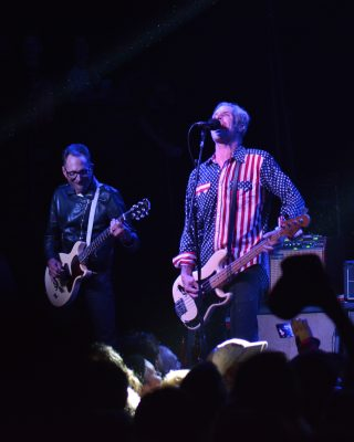 Mike Dimkich and Jay Bentley of Bad Religion. Photo: Andy Fitzgerrell