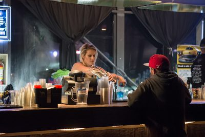 The bartender mixes an AMF. Photo: ColtonMarsalaPhotography.com