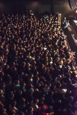 Packed shoulder to shoulder, SLC fans gather to listen to Mac Miller's performance. Photo: ColtonMarsalaPhotography.com