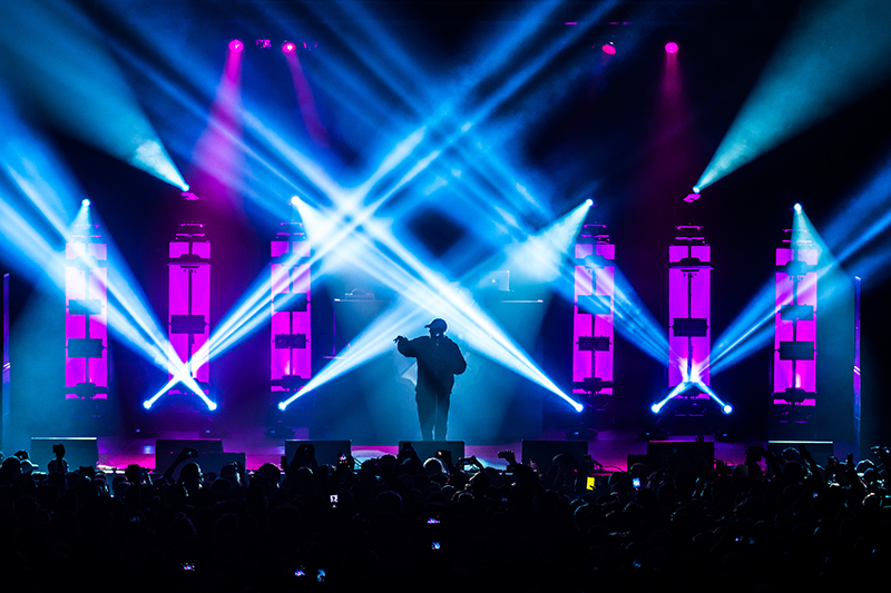 Mac Miller's top-notch stage production inspires energy and excitement. Photo: ColtonMarsalaPhotography.com