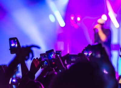 Fans quickly snap photos and grab video of Mac Miller's performance and lightshow. Photo: ColtonMarsalaPhotography.com