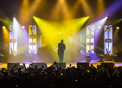 Lights flare Tuesday night at Saltair, as Mac Miller performs in front of SLC crowds. Photo: ColtonMarsalaPhotography.com
