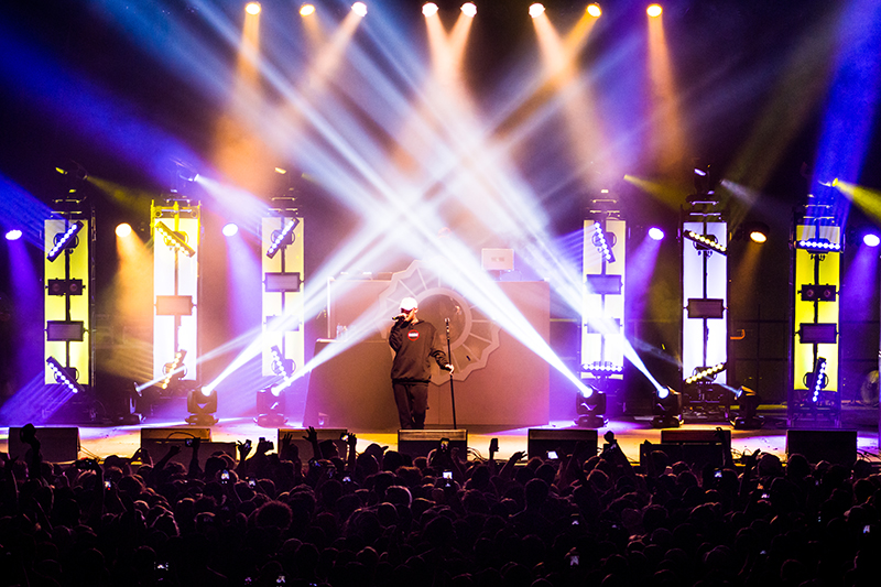 The Salt Lake City crowd was very pleased with Mac Miller's performance at the end of the night. Photo: ColtonMarsalaPhotography.com