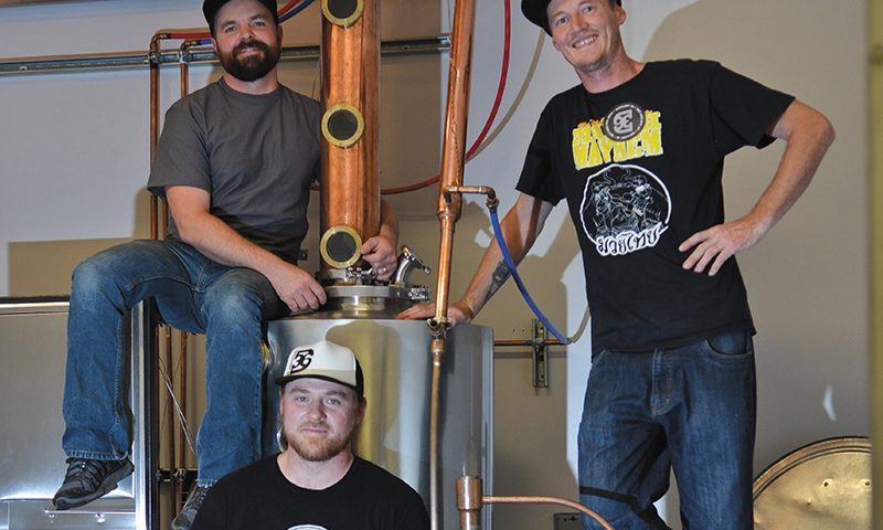 (L–R) Distillery 36's Jensen Dobbs, Jon Gregersen and Creed Law have perfected their Brigham Rum to be a staple in the local-liquor landscape and beyond.