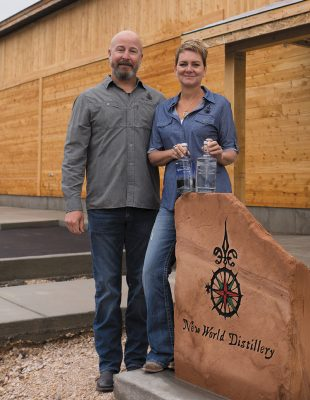 Chris and Ashley Cross have taken the necessary measures to ensure that New World Distillery is as environmentally friendly as possible.