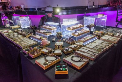 Local vendors such as Healing Mtn Crystals filled the Metro Club. Photo: ColtonMarsalaPhotography.com