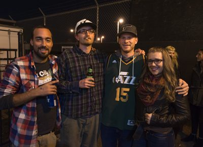 Hip-hop lovers enjoyed some drinks and laughs in the outside smoking area. Photo: ColtonMarsalaPhotography.com