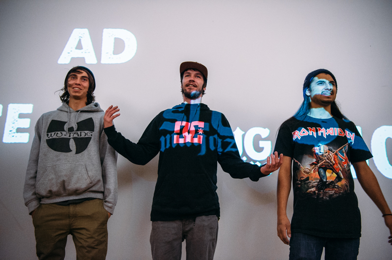 (L–R) Izaak Cameron, Mike Zanelli and Gabe Segura (Team SSDD). Photo: Niels Jensen