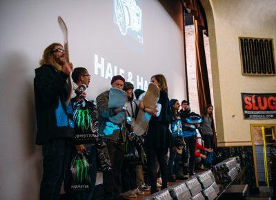 Winners receive custom board trophies made by Mark Judd. Photo: Niels Jensen