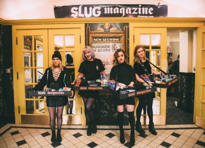 SLUG's candy girls added a classic theater element to the night. Photo: Niels Jensen