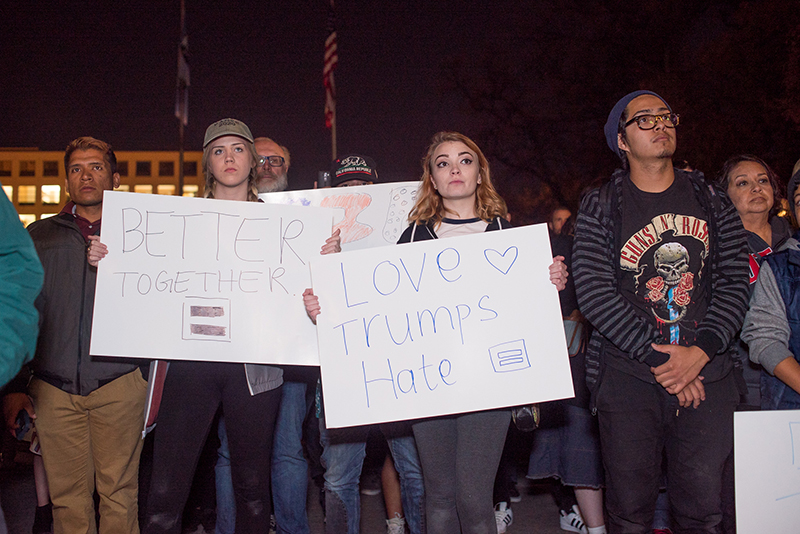 #LoveTrumpsHate. We are better together. Photos: Dave Brewer & Gabe Mejia // Photo Collective Studios