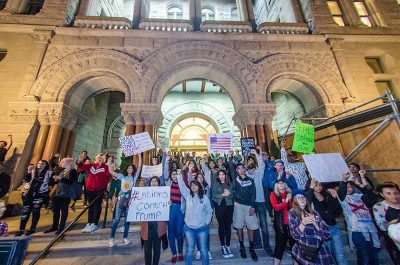 The steps of the City County Building filled up with protestors fueled by hope for a better future. Photos: Dave Brewer & Gabe Mejia // Photo Collective Studios