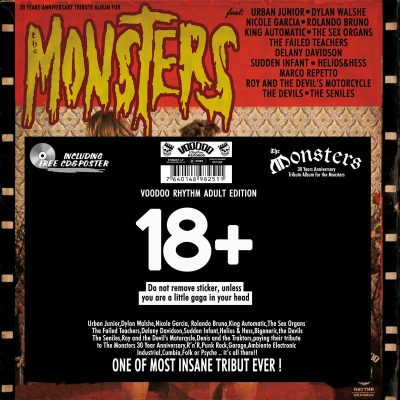 VARIOUS ARTISTS THE MONSTERS: BURN IN HELL Voodoo Rhythm Records Street: 11.11 The Monsters: Burn In Hell = The Devils + The Failed Teacher + Sudden Infant + The Seniles