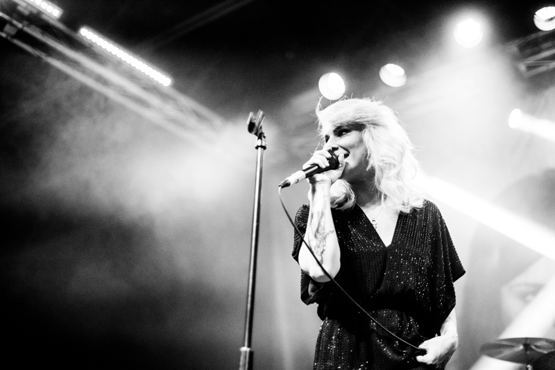 Maja Ivarsson on vocals for The Sounds. Photo: Gilbert Cisneros