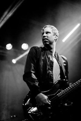 Johan Bengtsson on bass for The Sounds. Photo: Gilbert Cisneros