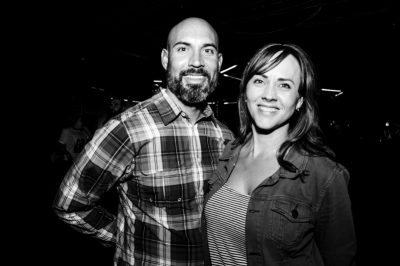 Crayton and Tracey came to see The Sounds and Zipper Club. Photo: Gilbert Cisneros