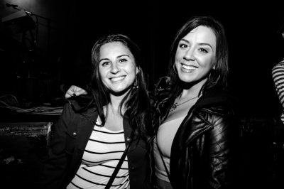 Sara and Lacey are up by the rail, waiting for the show to continue. Photo: Gilbert Cisneros