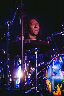The touring drummer for Derek Day's band closes his eyes and gets lost in the music. Photo: Talyn Sherer