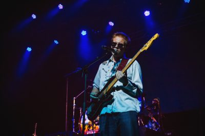 Derek Day's touring bassist plays it cool with his circular shades. Photo: Talyn Sherer