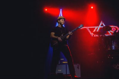 Dave Weiner tours the world with Steve Vai, creating riffs in every corner of the globe. Photo: Talyn Sherer