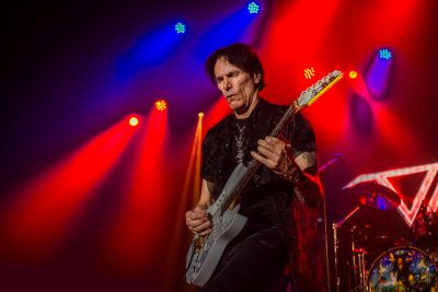 It's hard for anyone to not close their eyes and get lost in the melodies being performed, including Steve Vai himself. Photo: Talyn Sherer