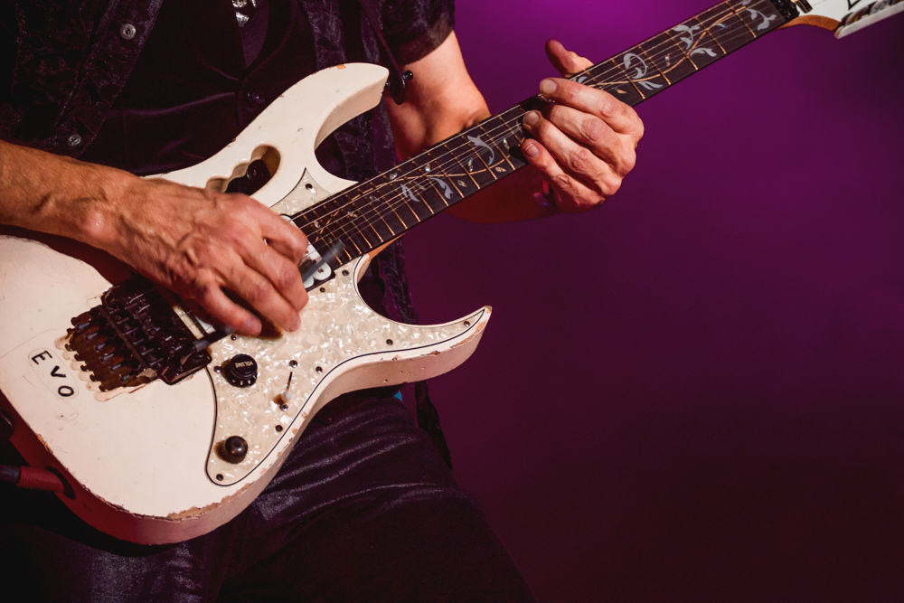 A photographic close-up of the hands that have created so many of your favorite songs by Steve Vai. Photo: Talyn Sherer