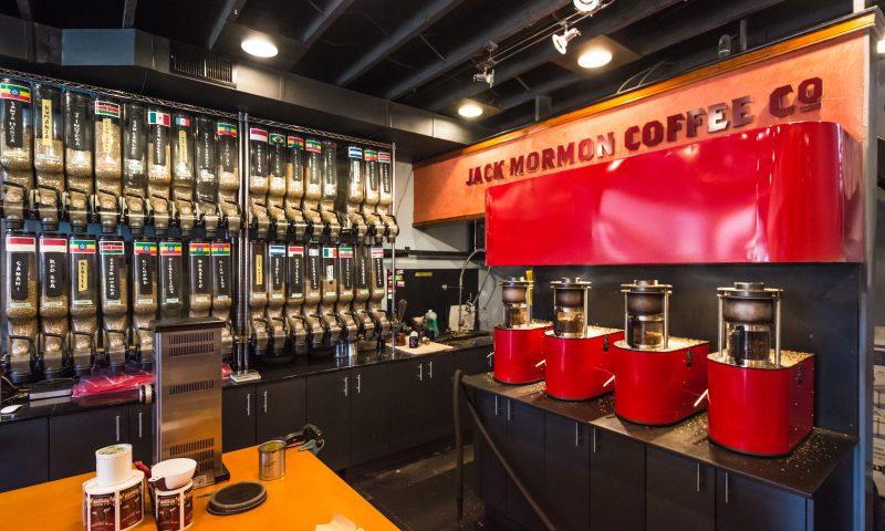 Visit Jack Mormon Coffee at 82 N. E Street, Salt Lake City.