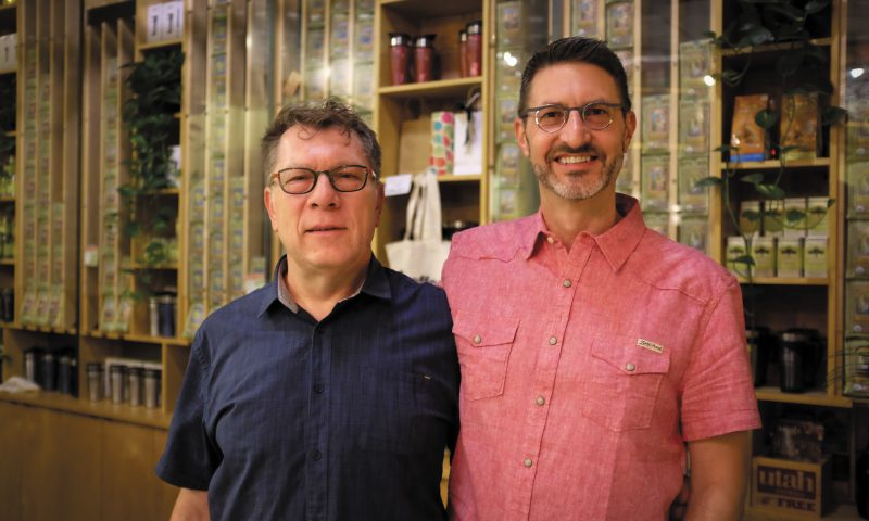 (L–R) Alan Hebertson and Dieter Sellmair have nurtured Coffee Garden at 9th and 9th as a community space.