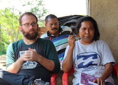 "(L–R) Caffe Ibis Director of Coffee Brandon Despain and Marcalina ""Ina"" Walu, chairwoman of the Kahgo Masa co-op, a Flores-based coffee farm from which Ibis sources."