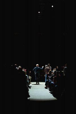 Jim Gaffigan takes the stage at the Vivint Smart Home Arena. Photo: Lmsorenson.net