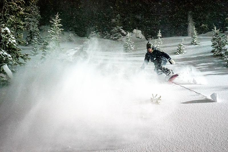 Pat Fava shredding the pow-pow. Photo: Jo Savage // @SavageDangerWolf