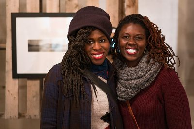 Salt Lakers Kenna O. and Princesse D. checked out the exhibits. Photo: Jo Savage // @SavageDangerWolf