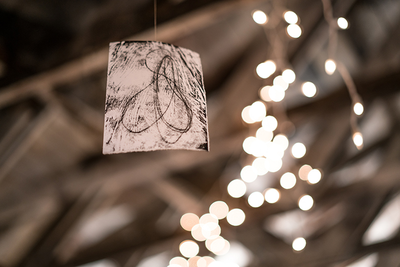 Ben Sang had sketches floating from the rafters. Photo: Jo Savage // @SavageDangerWolf