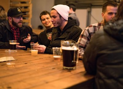 People also congregated in the brewery space to have beer and hang with friends. Photo: Jo Savage // @SavageDangerWolf
