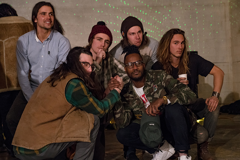 Hottest new boy band in town … No, just kidding, I wish, too. Some of the collaborating artists at the end of a successful night. Photo: Jo Savage // @SavageDangerWolf