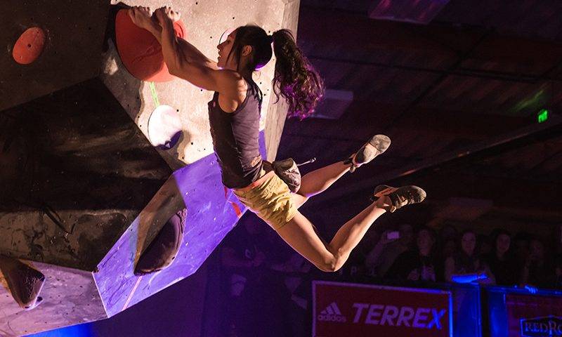 It was no surprise to the SLC crowd when Alex Puccio stuck this difficult move. Photo: ColtonMarsalaPhotography.com