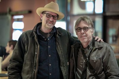 """(L–R) """"Bad"""" Brad Wheeler and Mike Kirkland curated the musical side of the all-locals Bob Moss tribute album, Son of Deseret: a Bob Moss Tribute."""