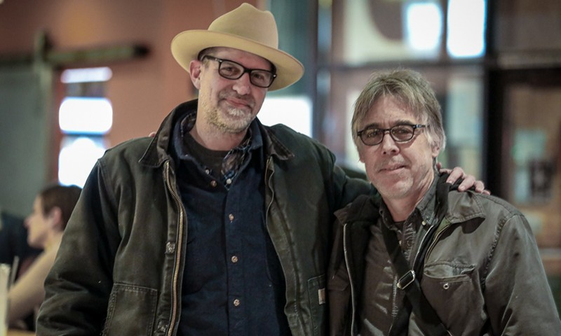 "(L–R) ""Bad"" Brad Wheeler and Mike Kirkland curated the musical side of the all-locals Bob Moss tribute album, Son of Deseret: a Bob Moss Tribute."