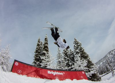 Ian Russel 3rd place Mens open ski back flip. Photo: CJ Anderson