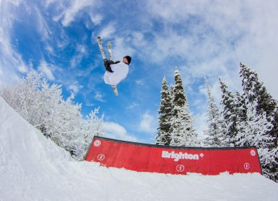 Ian Russel 3rd place mens open ski back flip 360. Photo: CJ Anderson