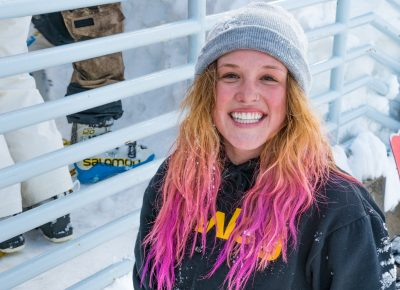 Sierra Jewett was all smiles before she was announced the winner of the Women's open snow division. Photo: Jo Savage // @SavageDangerWolf