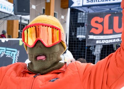 Pat Fava was getting silly in between laps in the Men's Open Snow division. Photo: Jo Savage // @SavageDangerWolf