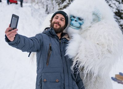 The two best friends that anyone could have. MC of the event, *****, posed with Yeti. Photo: Jo Savage // @SavageDangerWolf