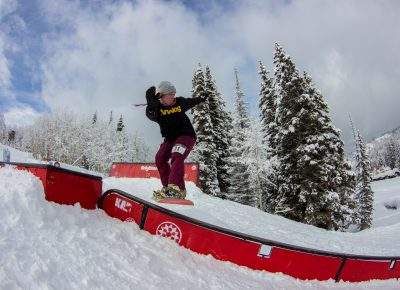 Sierra Jewett 1st place womens open snow 50-50 to back lip. Photo: CJ Anderson